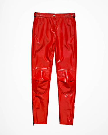 Patent Leather Biker Pants - $199