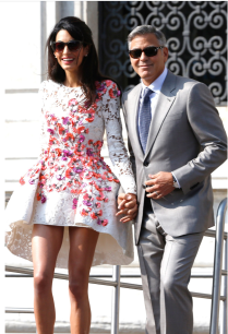 Mr and Mrs. Clooney