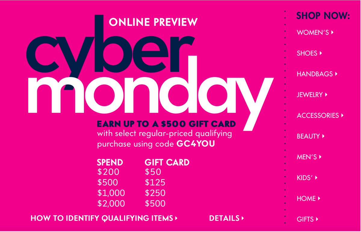 Cyber Monday and Designer Sample Sales