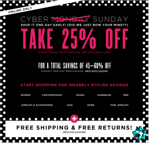 Bloomingdales Cyber Monday Sale