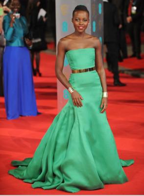 In Christian Dior at the BAFTA Awards