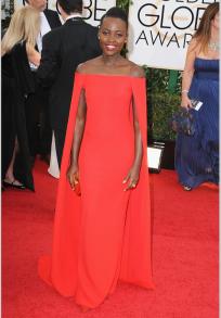 In Ralph Lauren at the Golden Globes
