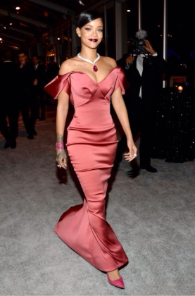 in Zac Posen for the 1st Annual Diamond Ball